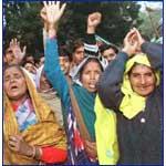 Indian Muslim Women demanding reservation